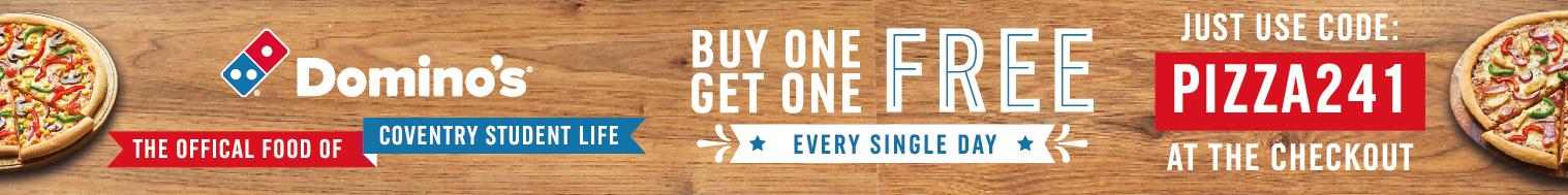 Dominos Buy One Get One Free with the code Pizza24