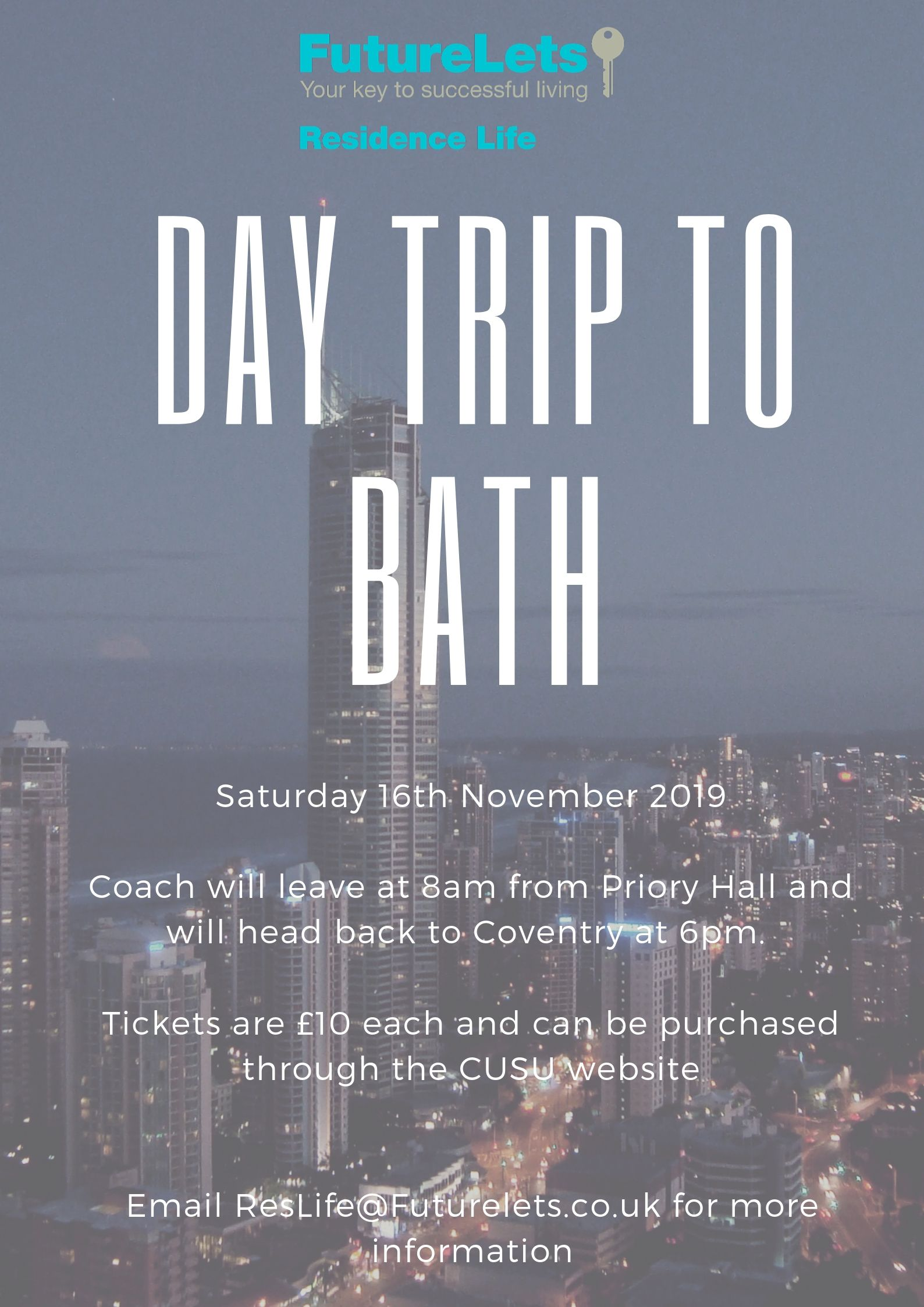 Future Lets- Res Life: Day Trip to Bath
