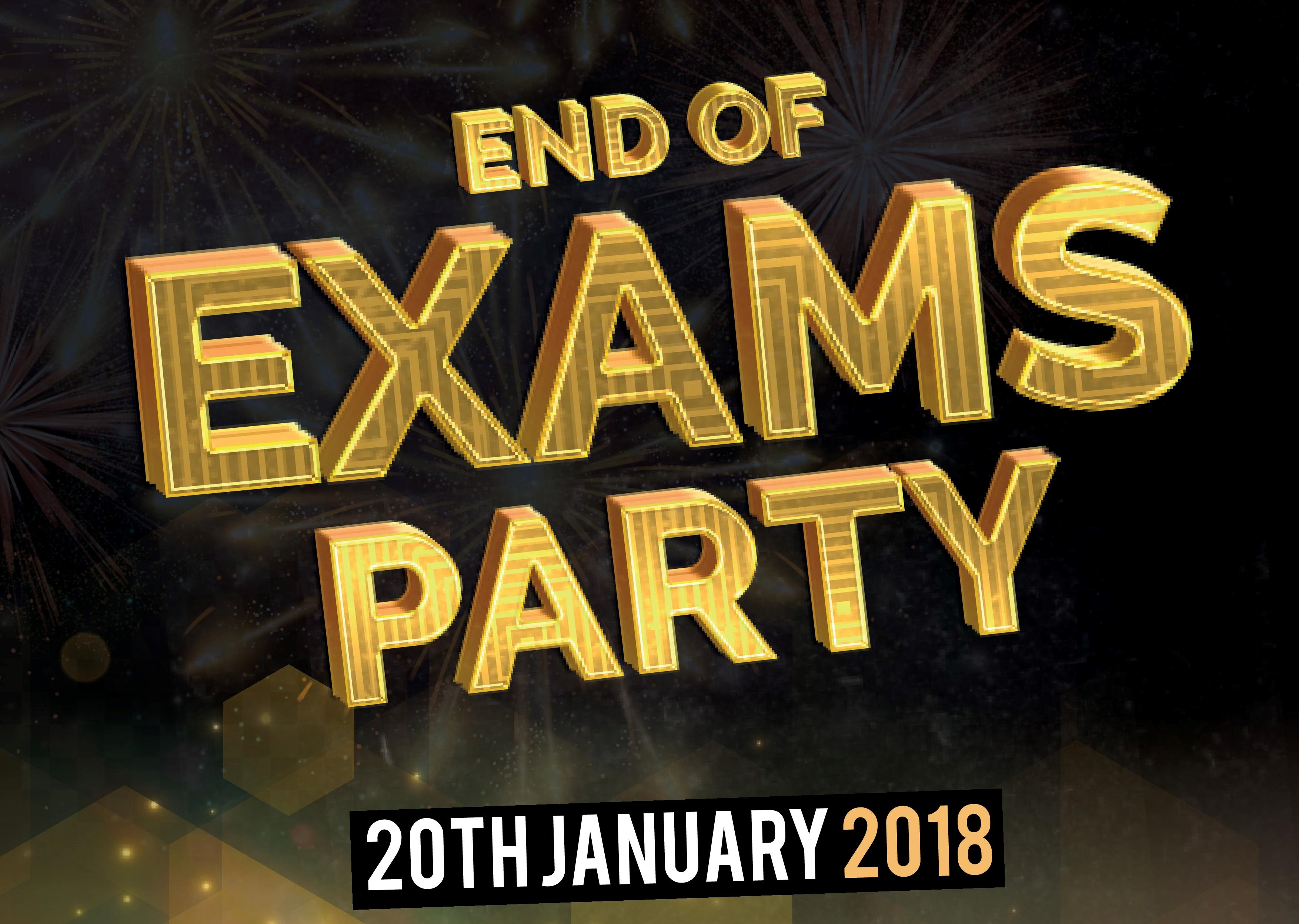 POSTPONED: End of Exam Party!