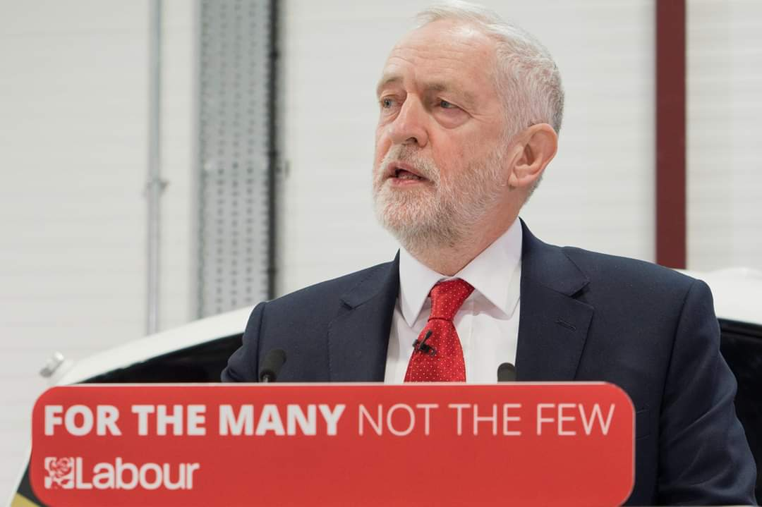 A picture of Jeremy Corbyn, the Leader of the Labour Party.