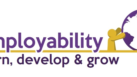 Employability logo, with tagline 'learn, develop and grow'