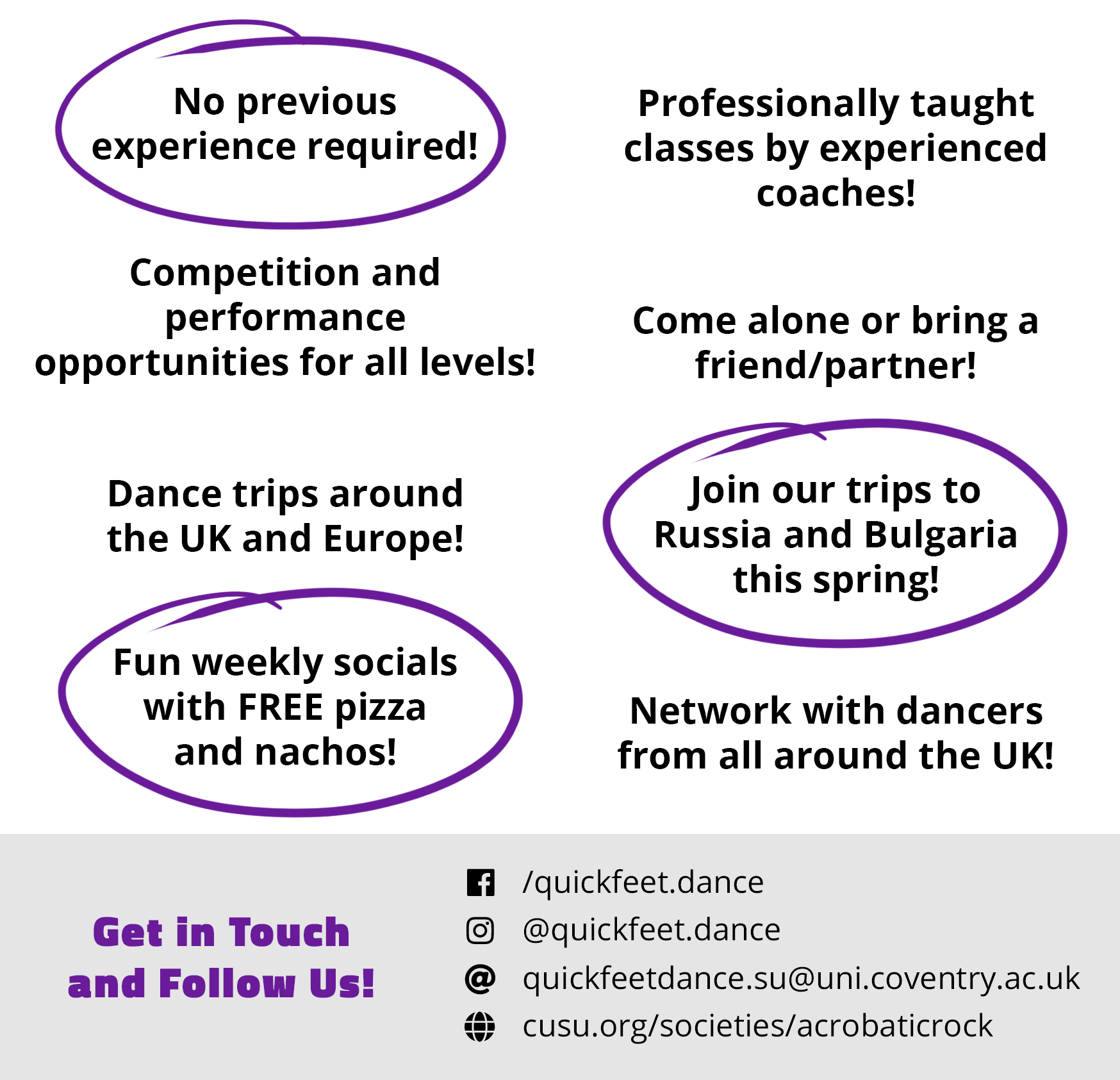 Quickfeet Dance School Offering