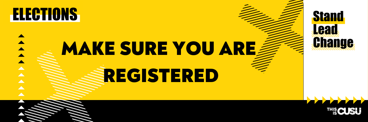 Make sure you are registered