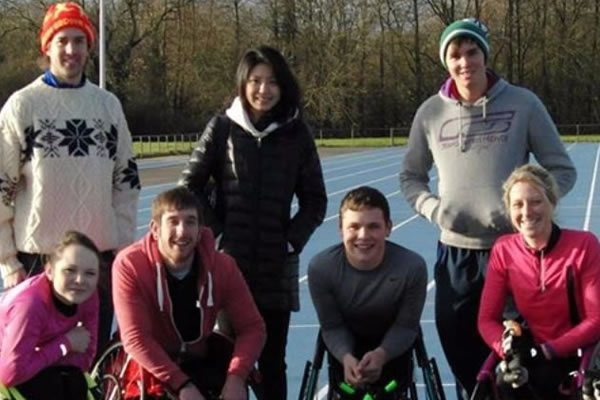 Students at a disability sport event